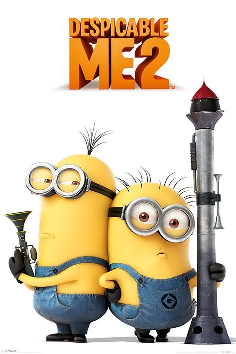 GRUSOMME MIG 2 - armed minions 2013 Plakat