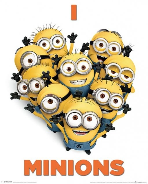 Grusomme mig 2 - Despicable Me 2 - I Love Minions Plakat