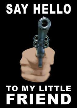 Gun - say hello... Plakat