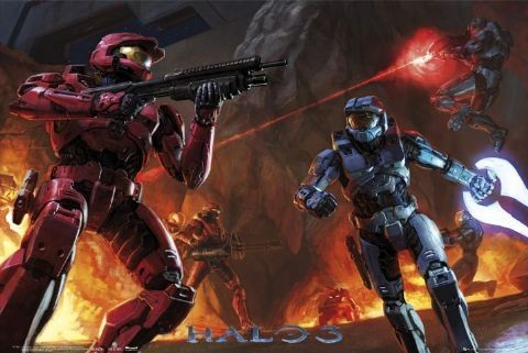 HALO 3 - fight Plakat