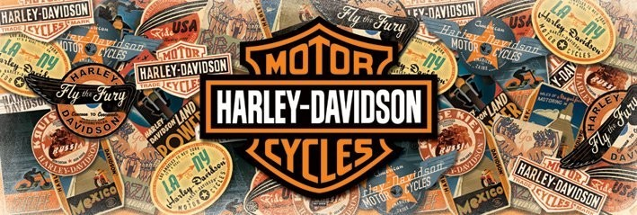 Harley Davidson - cestování / travel /  Plakat