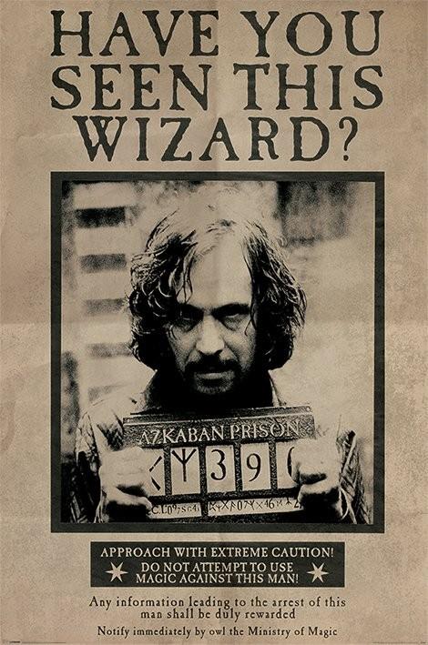Plakat Harry Potter - Wanted Sirius Black
