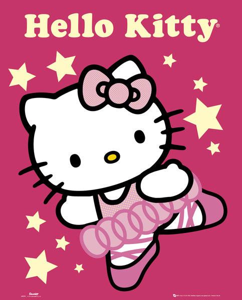 HELLO KITTY - ballerina  Plakat