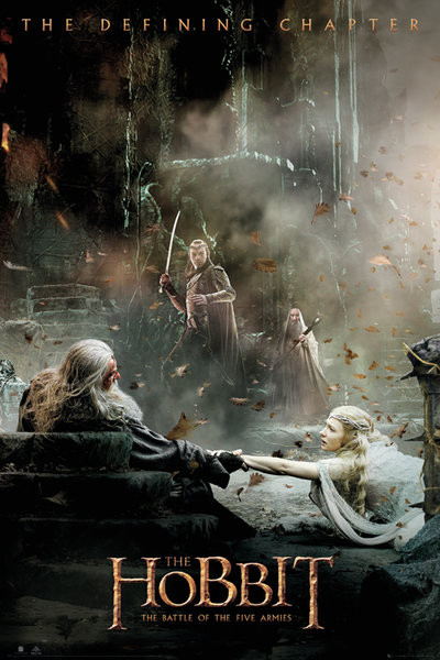Hobbitten 3: Femhæreslaget - Aftermath Plakat