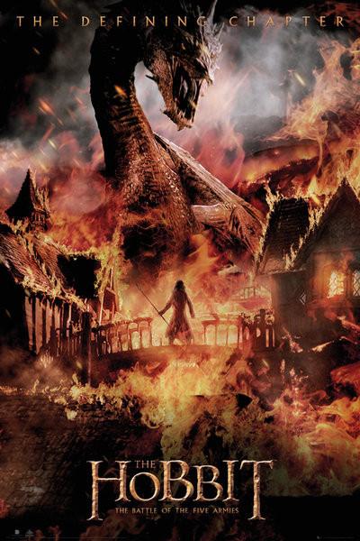 Hobbitten 3: Femhæreslaget - Dragon Plakat
