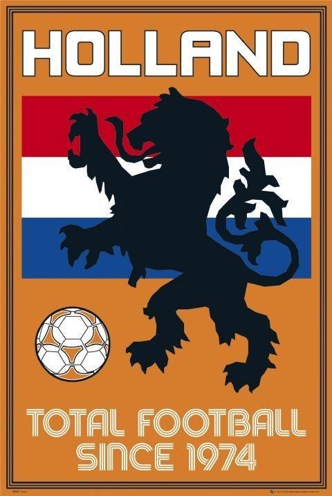 Holland - total football Plakat