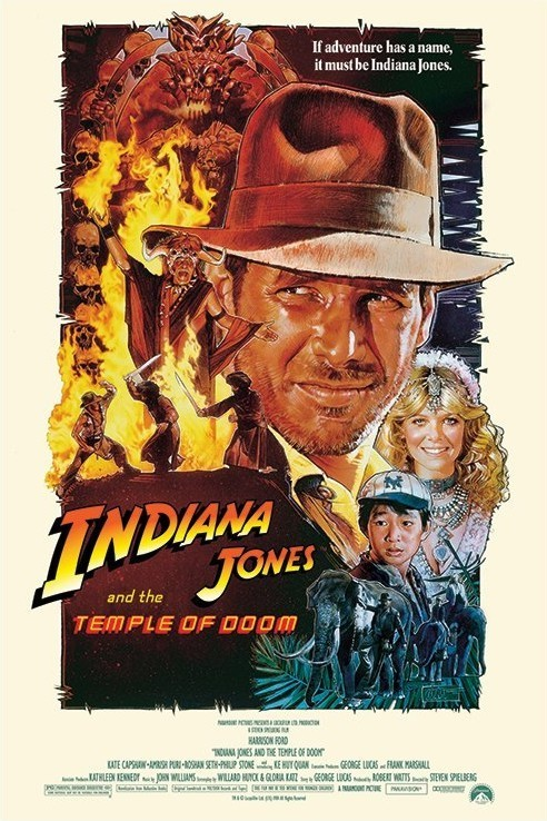 INDIANA JONES - temple of doom one sheet 2 Plakat