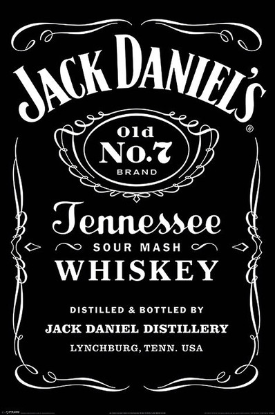 Jack Daniels - Label Plakat