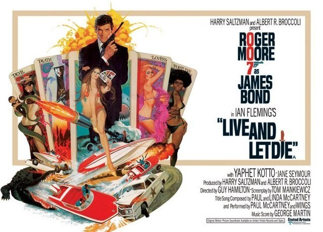 JAMES BOND 007 - live and let die tarot Plakat