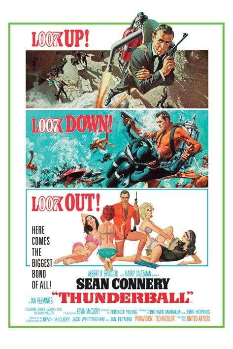 JAMES BOND 007 - thunderball Plakat