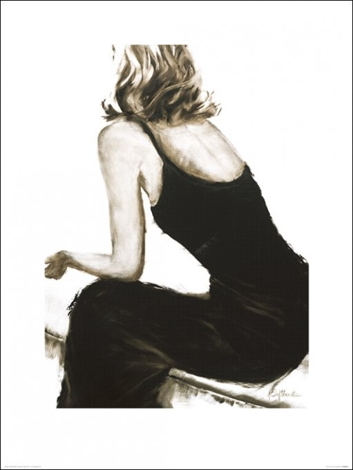 Janel Eleftherakis - Little Black Dress II Kunsttryk