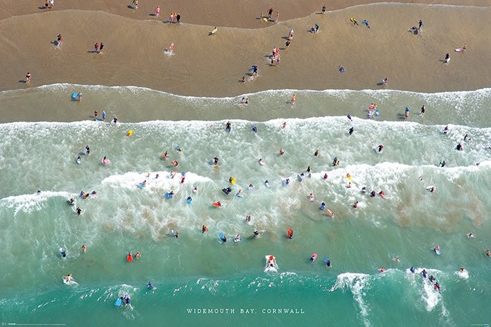 Jason Hawkes - Widemouth Bay, Cornwall Plakat