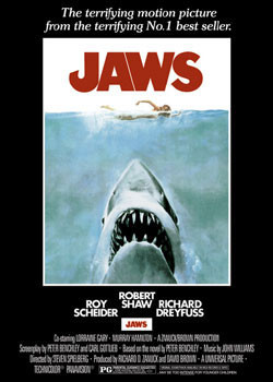 JAWS – movie poster Plakat