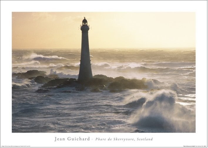 Jean Guichard - Phare De Skerryvore, Scotland Kunsttryk
