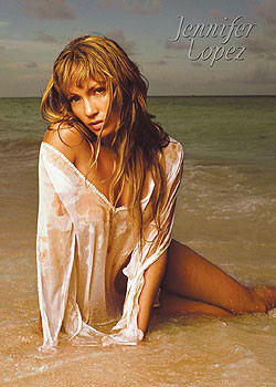 Jennifer Lopez - beach Plakat