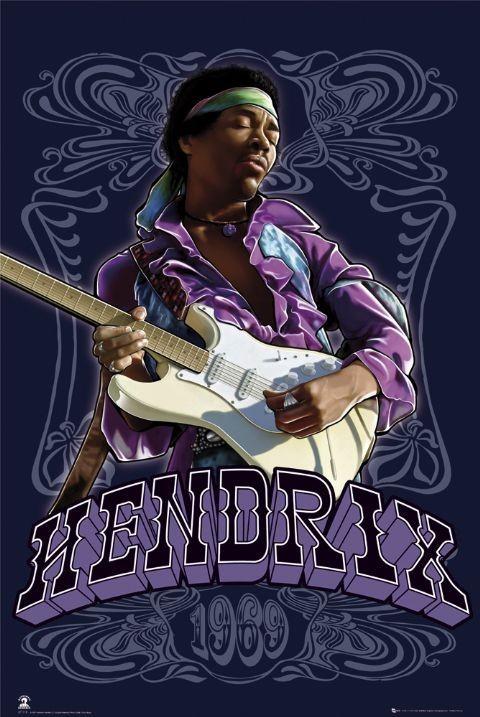 Jimi Hendrix - 1969 Plakat