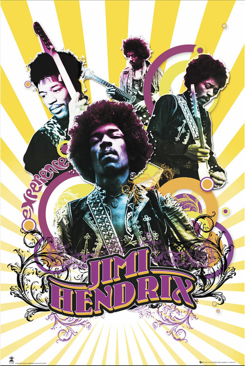 Jimi Hendrix - collage Plakat