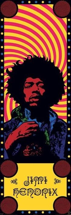 Jimi Hendrix - psychedelic door Plakat