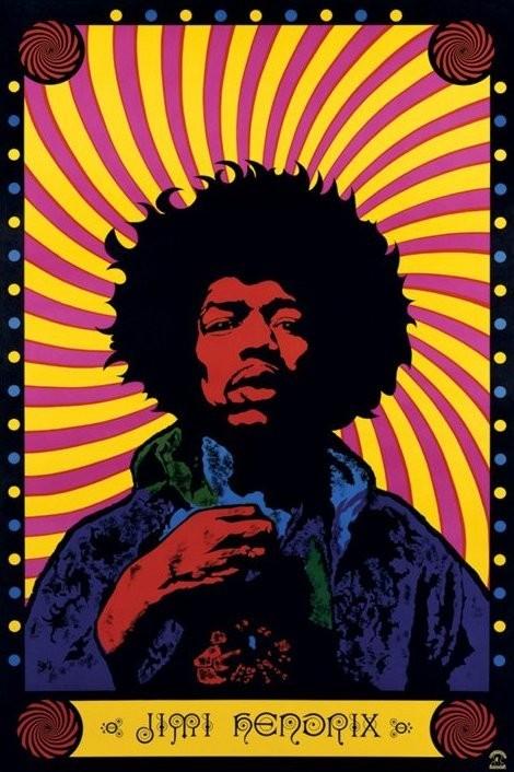 Jimi Hendrix - psychedelic Plakat