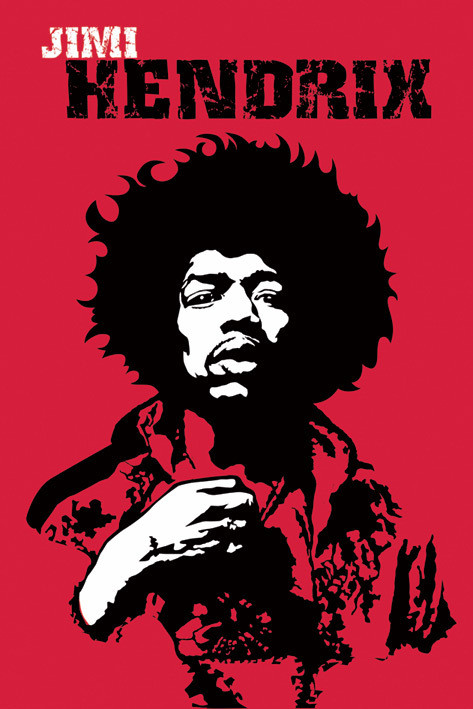 Jimi Hendrix - revolution Plakat