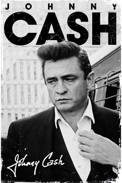 Johnny Cash - signature Plakat