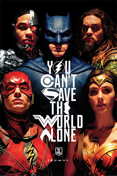 Justice League Movie - Save The World Plakat
