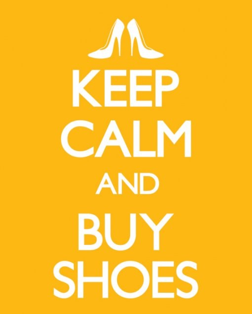 Keep calm & buy shoes Plakat