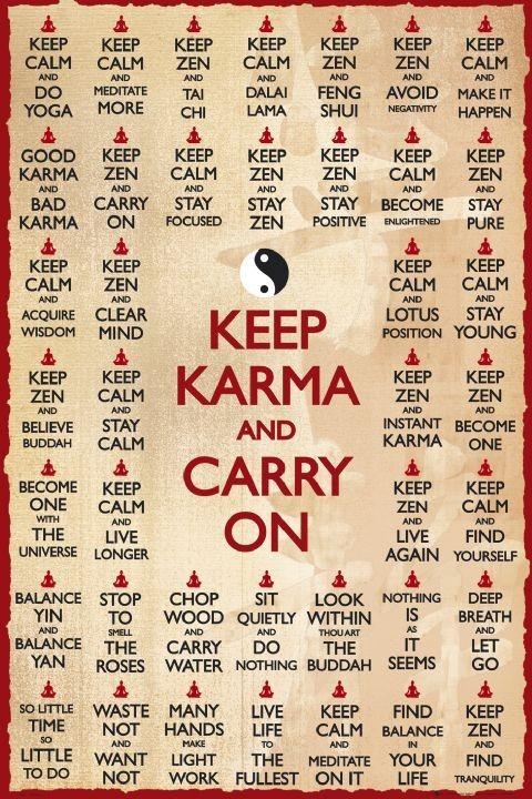 Keep karma Plakat