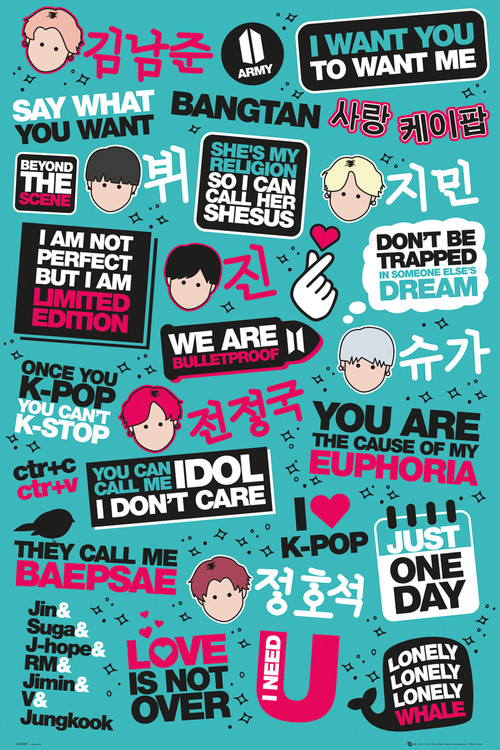 KPOP - Quotes Plakat
