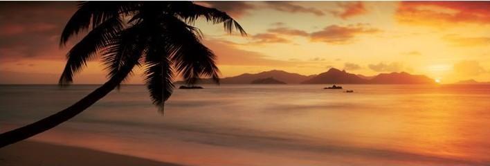 La digue - seychelles Plakat