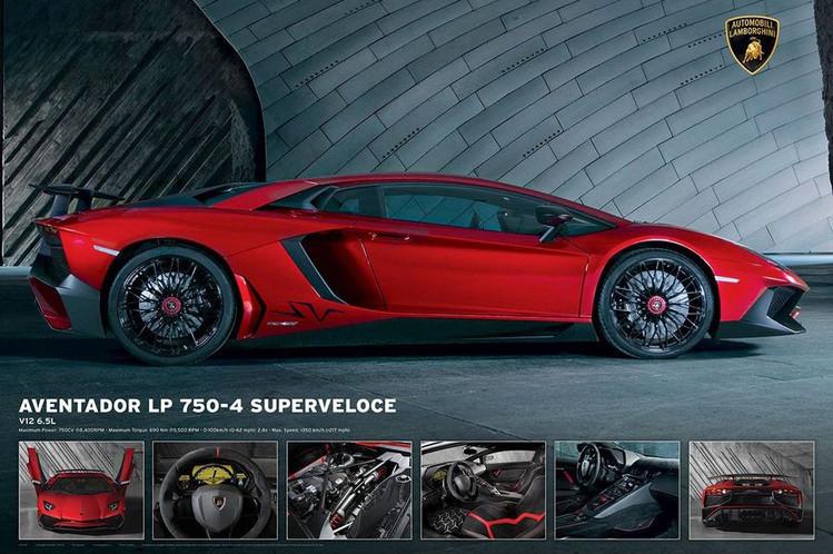 Lamborghini Aventador Lp750 4 Plakat Poster Kjop Hos Europosters No