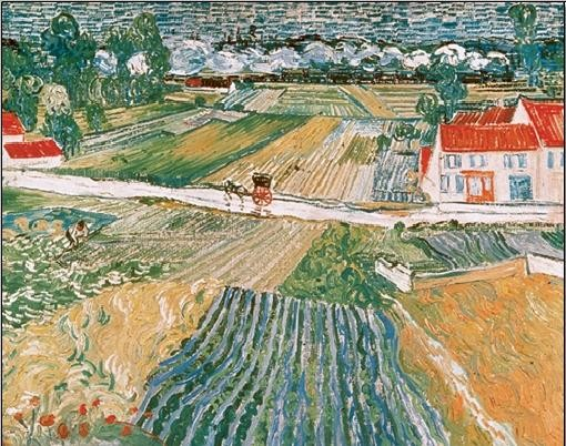 Landscape at Auvers after the Rain, 1890 (part.) Kunsttryk
