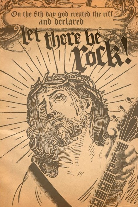 Let there be rock Plakat