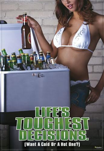 Life is toughest decisions Plakat