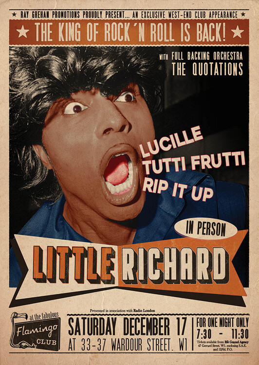 Plakat Little Richard Flamingo - Club Wardour St
