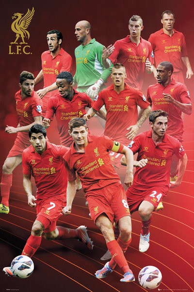Liverpool - players 12/13 Plakat