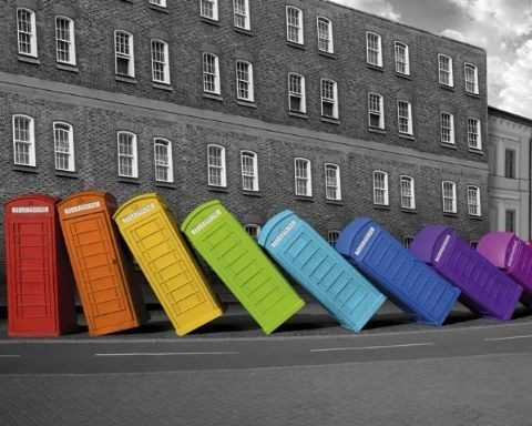 London - phoneboxes Plakat