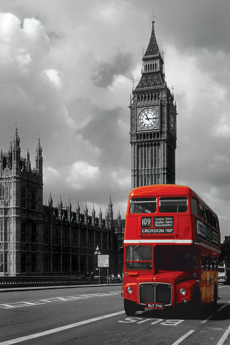 London - red bus Plakat