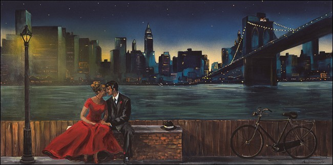 Lovers in Manhattan Kunsttryk