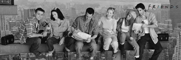 Lunch on a skyscraper - friends Plakat