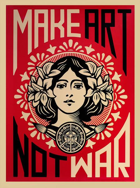 Make Art Not War Plakat