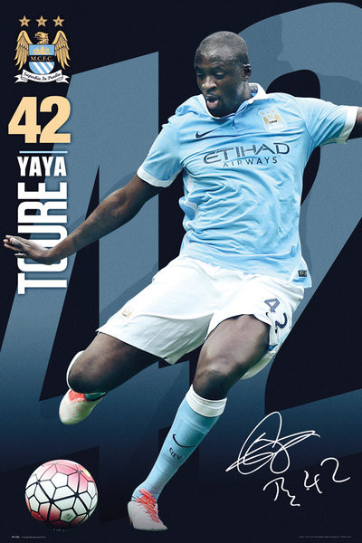 Manchester City FC - Toure 15/16 Plakat