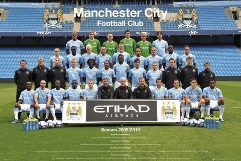Manchester City - Team 09/10 Plakat