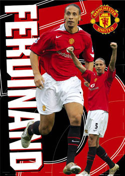 Manchester United - Ferdinand 5 Plakat