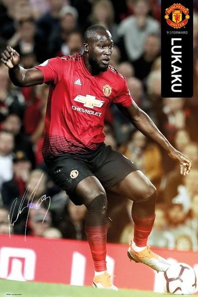 Manchester United - Lukaku 18-19 Plakat