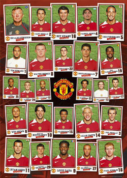 Manchester United - sqad profile Plakat