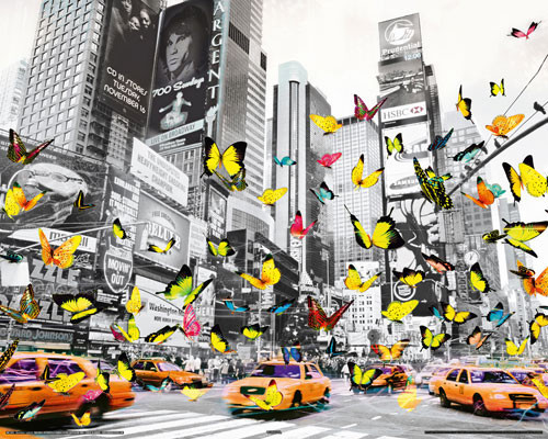 MANHATTAN - butterfly Plakat