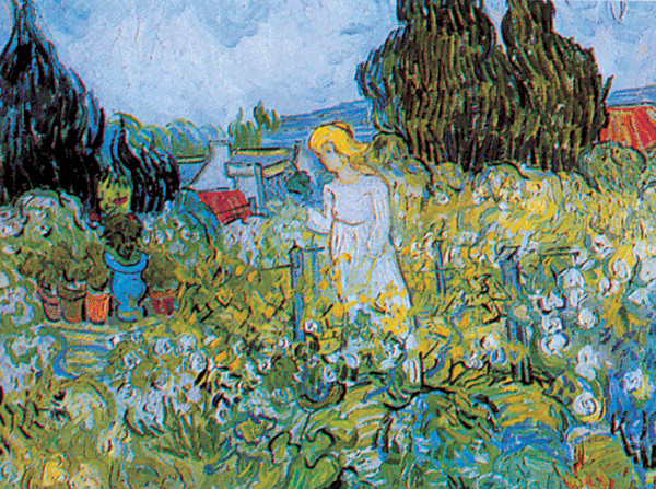 Marguerite Gachet in the Garden, 1890 Kunsttryk