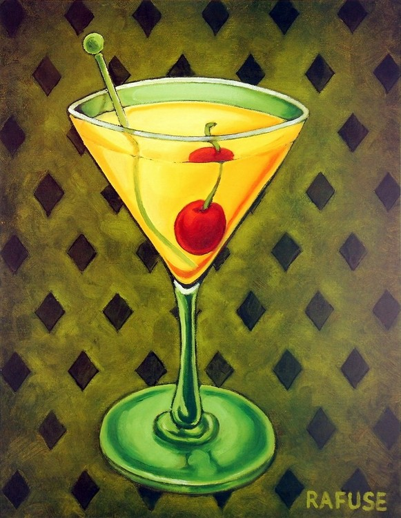 Martini Royale - Diamonds Kunsttryk