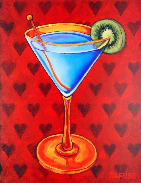 Martini Royale - Hearts Kunsttryk